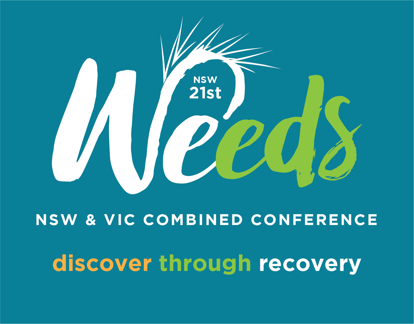 21st NSW Weeds Conference logo with the byline - discover through recovery